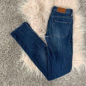 Madewell rail straight skinny jeans 24X34 dark